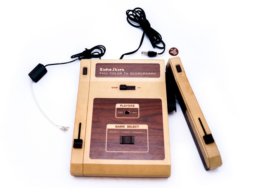 a photograph of the Radio VG Games console, which has been photographed on a white background